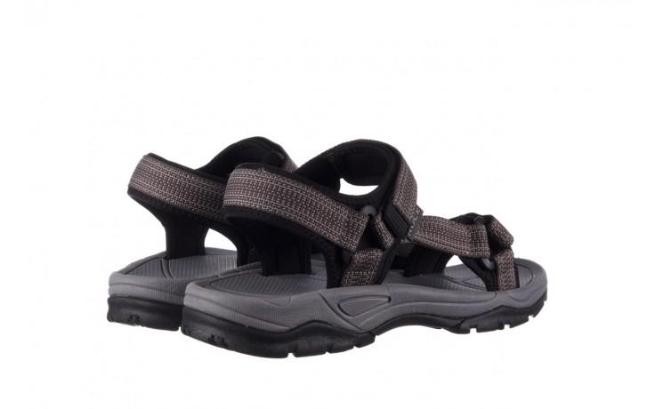 Sandały rock kern grey men, szary, materiał  - sandały - dla niego - sale 3