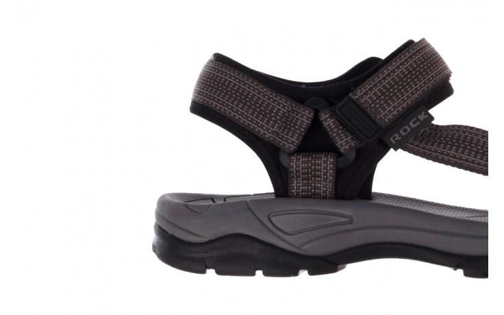 Sandały rock kern grey men, szary, materiał  - sandały - dla niego - sale 6