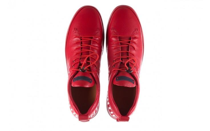 Trampki john doubare m8191-3 red, czerwony, skóra naturalna  - brooman - nasze marki 4