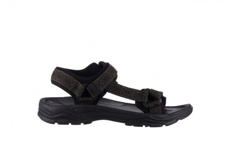 Sandały rock kern moss men, zielony/ czarny, materiał  - sandały - buty męskie - mężczyzna
