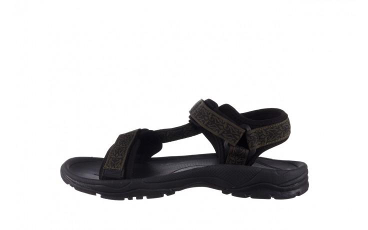 Sandały rock kern moss men, zielony/ czarny, materiał  - buty męskie - mężczyzna 2