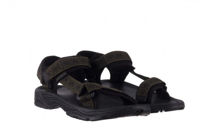 Sandały rock kern moss men, zielony/ czarny, materiał  - buty męskie - mężczyzna 1