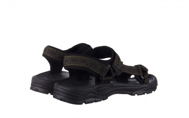 Sandały rock kern moss men, zielony/ czarny, materiał  - buty męskie - mężczyzna 3