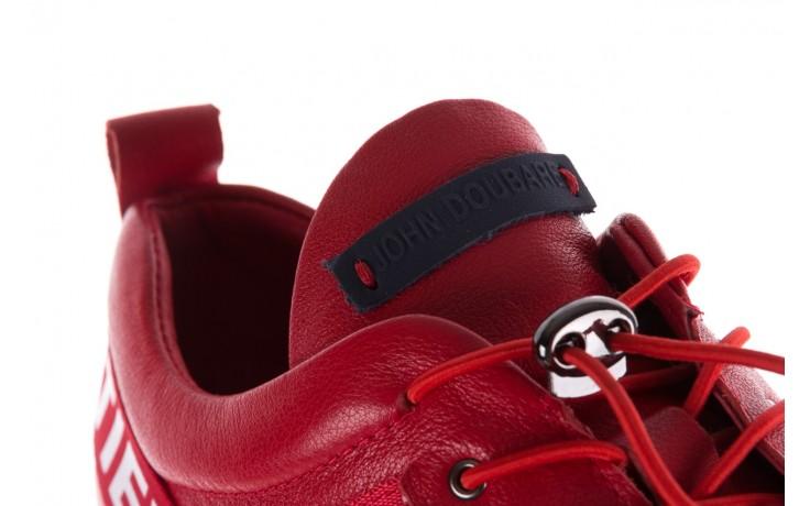 Trampki john doubare m8191-3 red, czerwony, skóra naturalna  - brooman - nasze marki 7