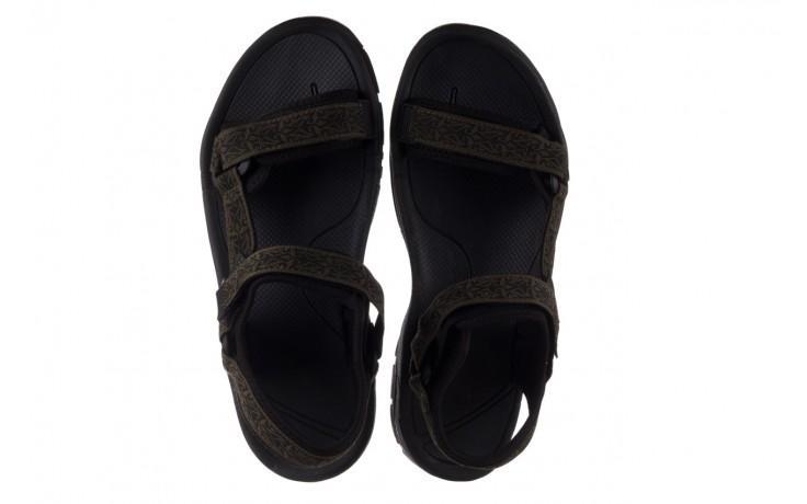 Sandały rock kern moss men, zielony/ czarny, materiał  - buty męskie - mężczyzna 4