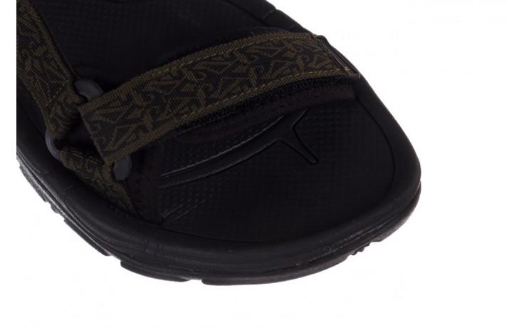 Sandały rock kern moss men, zielony/ czarny, materiał  - sandały - buty męskie - mężczyzna 5