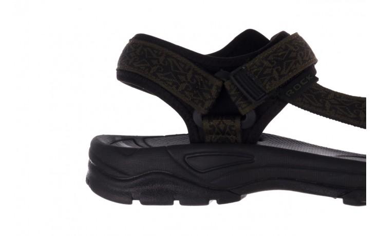 Sandały rock kern moss men, zielony/ czarny, materiał  - trendy - mężczyzna 6