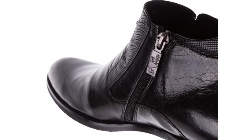 Trzewiki john doubare 720b-719g183-r 19, czarny, skóra naturalna - mężczyzna 6