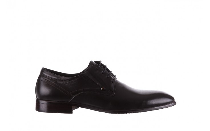 Półbuty brooman b-545 black, czarny, skóra naturalna - bayla exclusive - trendy - mężczyzna