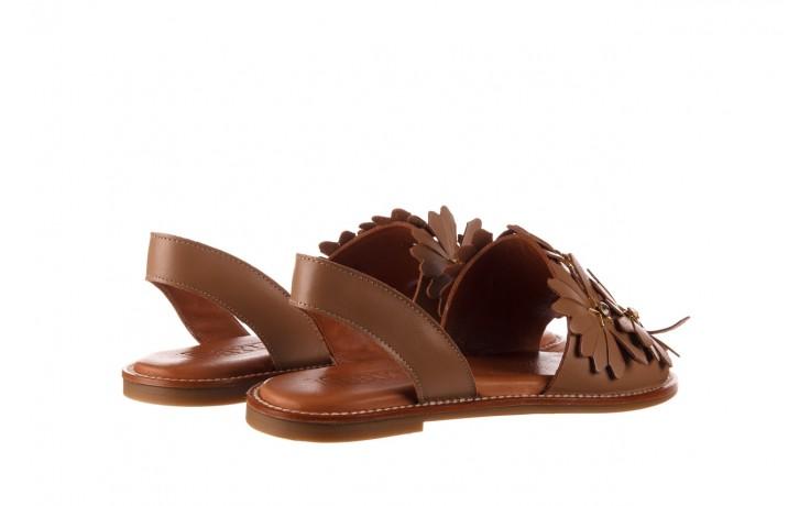 Sandały bayla-190 285 631 530, brąz, skóra naturalna  - płaskie - sandały - buty damskie - kobieta 3
