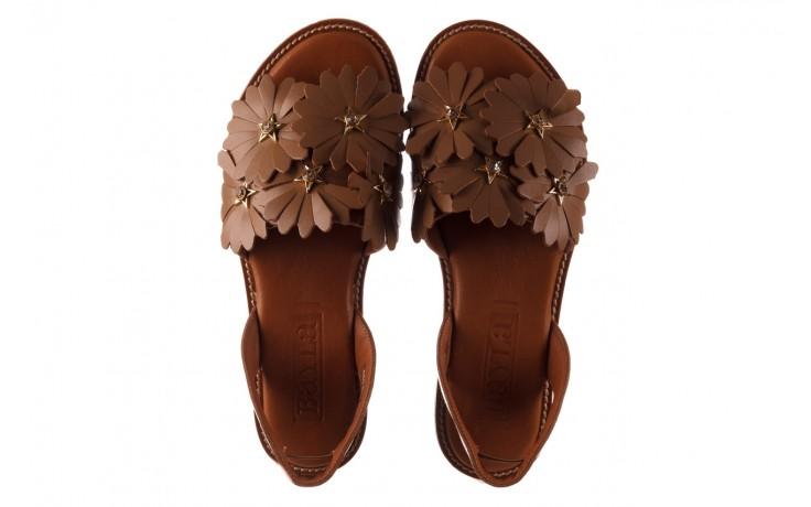 Sandały bayla-190 285 631 530, brąz, skóra naturalna  - płaskie - sandały - buty damskie - kobieta 4