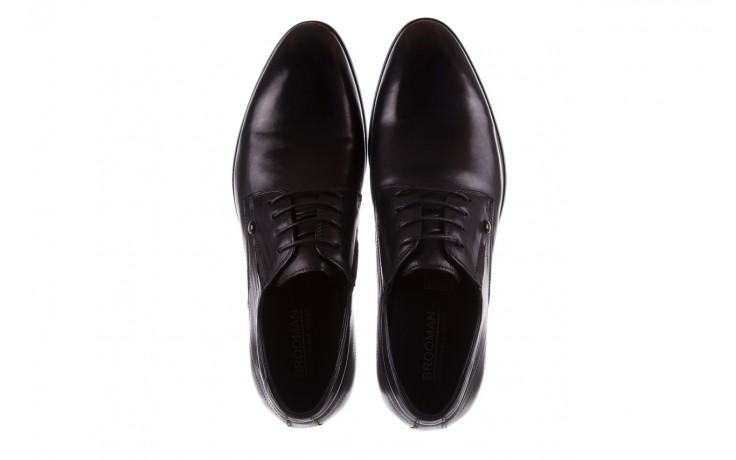 Półbuty brooman b-545 black, czarny, skóra naturalna - bayla exclusive - trendy - mężczyzna 4
