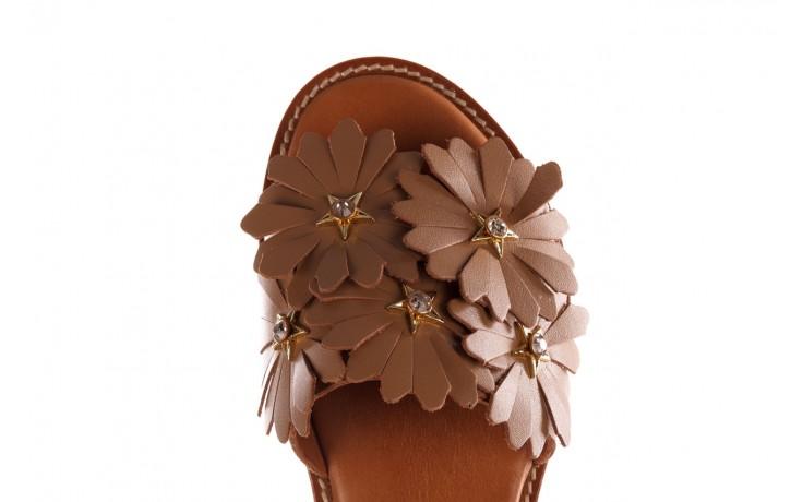 Sandały bayla-190 285 631 530, brąz, skóra naturalna  - płaskie - sandały - buty damskie - kobieta 6