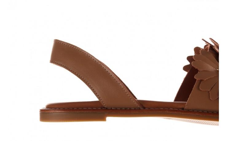 Sandały bayla-190 285 631 530, brąz, skóra naturalna  - płaskie - sandały - buty damskie - kobieta 7