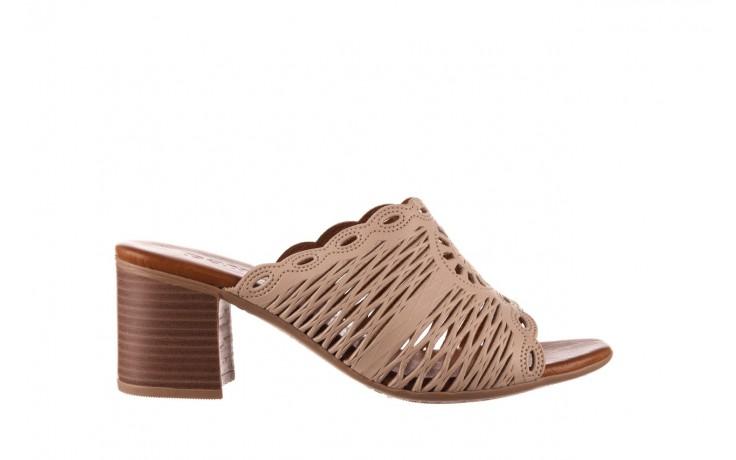 Klapki bayla-190 409 sb15 03, beż, skóra naturalna  - klapki - buty damskie - kobieta