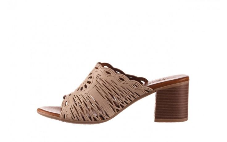 Klapki bayla-190 409 sb15 03, beż, skóra naturalna  - klapki - buty damskie - kobieta 2