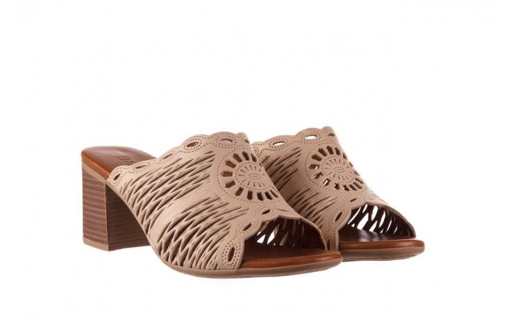 Klapki bayla-190 409 sb15 03, beż, skóra naturalna  - klapki - buty damskie - kobieta 1