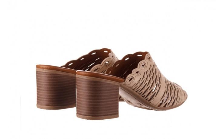 Klapki bayla-190 409 sb15 03, beż, skóra naturalna  - klapki - buty damskie - kobieta 3