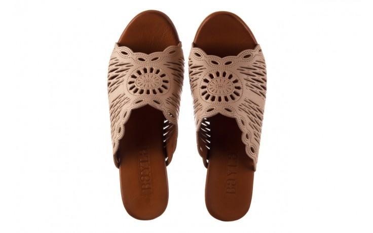 Klapki bayla-190 409 sb15 03, beż, skóra naturalna  - klapki - buty damskie - kobieta 4