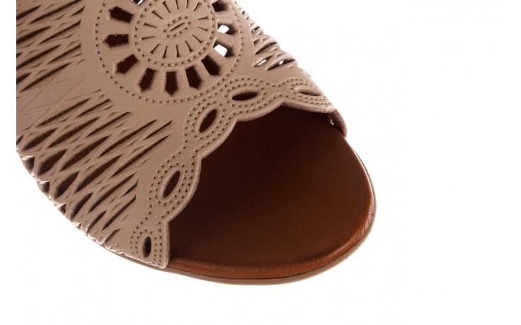 Klapki bayla-190 409 sb15 03, beż, skóra naturalna  - klapki - buty damskie - kobieta 5