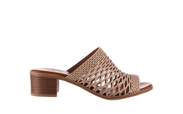 Klapki bayla-190 409 sb3 03, beż, skóra naturalna  - klapki - buty damskie - kobieta