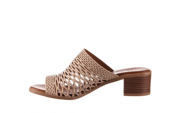 Klapki bayla-190 409 sb3 03, beż, skóra naturalna  - klapki - buty damskie - kobieta 2