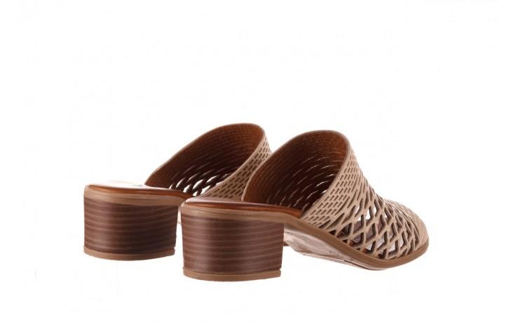 Klapki bayla-190 409 sb3 03, beż, skóra naturalna  - klapki - buty damskie - kobieta 3