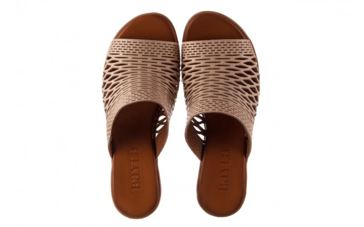Klapki bayla-190 409 sb3 03, beż, skóra naturalna  - klapki - buty damskie - kobieta 4