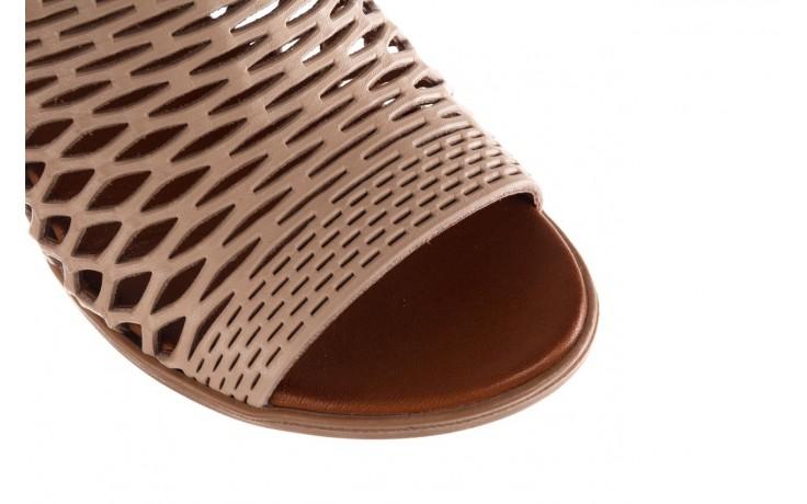 Klapki bayla-190 409 sb3 03, beż, skóra naturalna  - klapki - buty damskie - kobieta 5