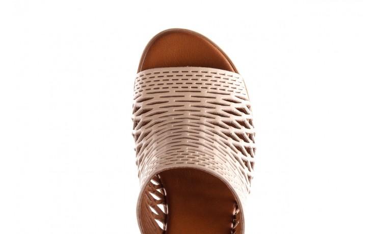 Klapki bayla-190 409 sb3 03, beż, skóra naturalna  - klapki - buty damskie - kobieta 8