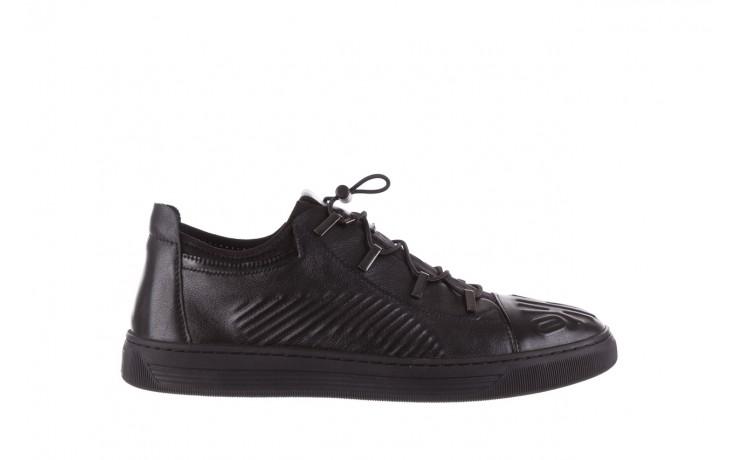 Trampki john doubare s8016-xt6820-1 black, czarny , skóra naturalna - brooman - nasze marki