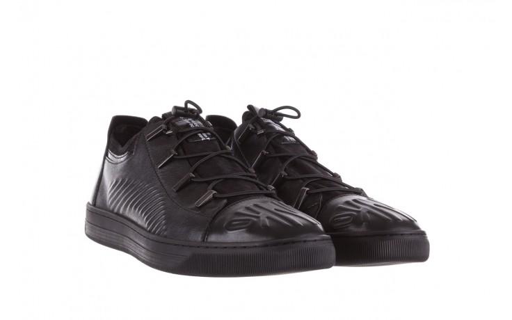 Trampki john doubare s8016-xt6820-1 black, czarny , skóra naturalna - brooman - nasze marki 1