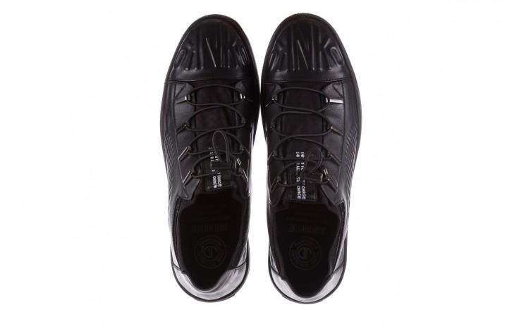 Trampki john doubare s8016-xt6820-1 black, czarny , skóra naturalna - brooman - nasze marki 4