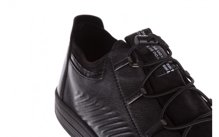 Trampki john doubare s8016-xt6820-1 black, czarny , skóra naturalna - brooman - nasze marki 5