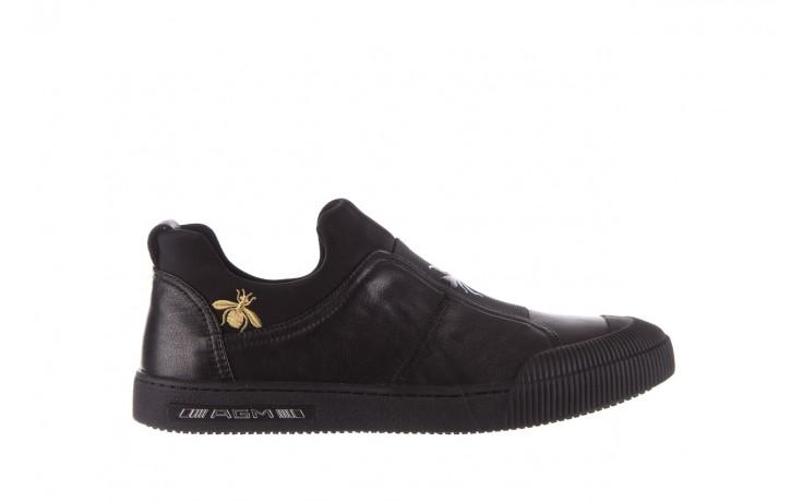 Trampki john doubare s8016-f37517-1 black, czarny, skóra naturalna - bayla exclusive - trendy - mężczyzna