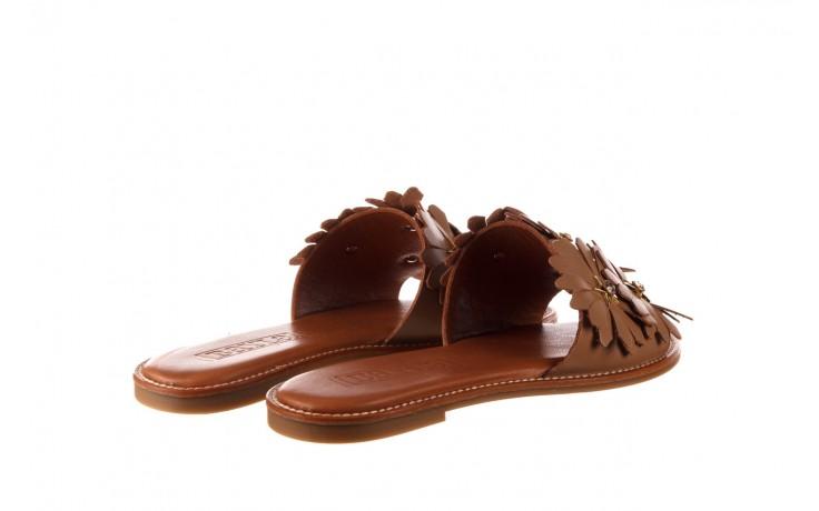 Klapki bayla-190 285 630 530, brąz, skóra naturalna  - klapki - buty damskie - kobieta 3