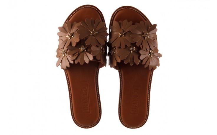 Klapki bayla-190 285 630 530, brąz, skóra naturalna  - klapki - buty damskie - kobieta 4