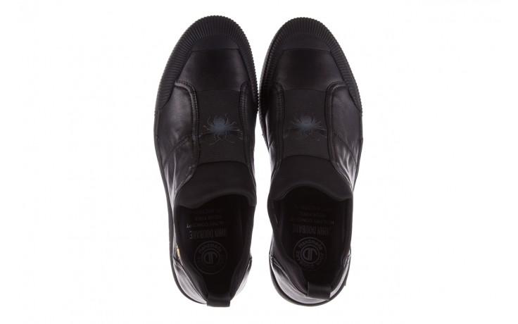 Trampki john doubare s8016-f37517-1 black, czarny, skóra naturalna - bayla exclusive - trendy - mężczyzna 4