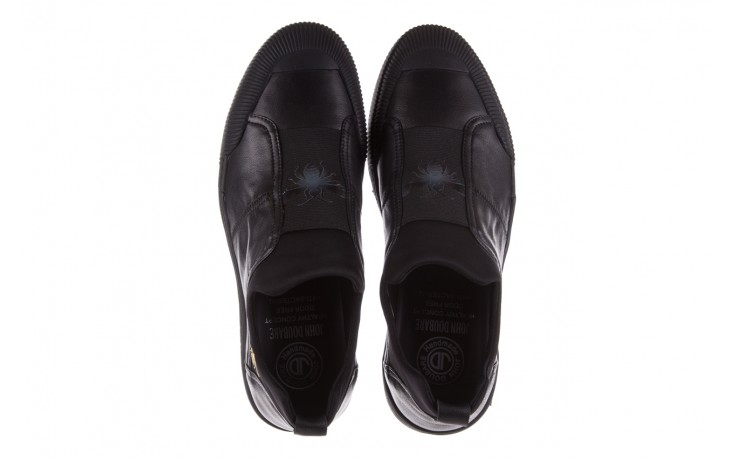 Trampki john doubare s8016-f37517-1 black, czarny, skóra naturalna - brooman - nasze marki 4