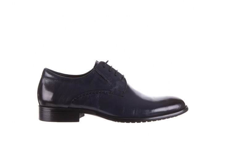 Półbuty brooman a218-101-a187 blue, granat, skóra naturalna  - bayla exclusive - trendy - mężczyzna