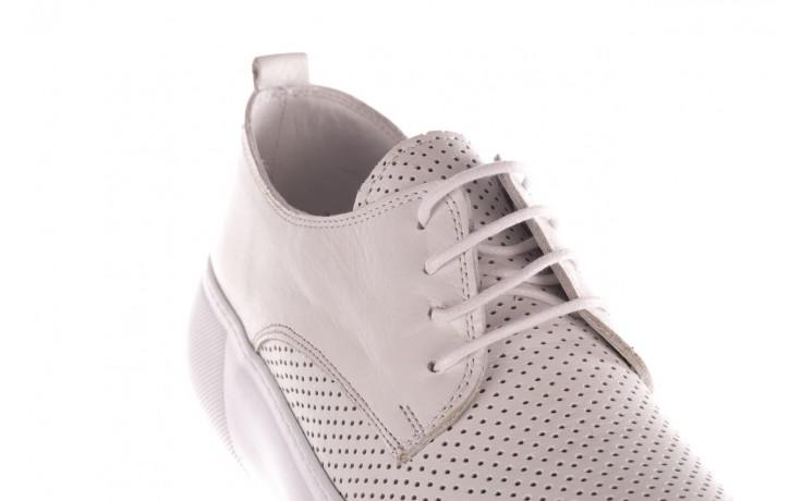 Trampki bayla-190 102 12502 white beyaz, biały, skóra naturalna  - kobieta 5