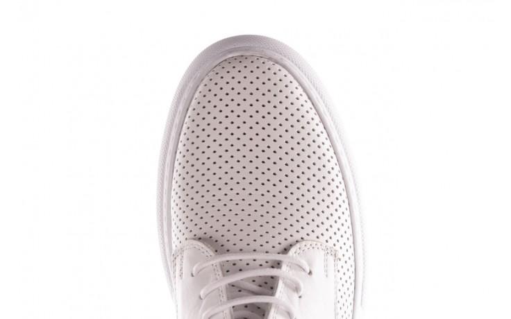 Trampki bayla-190 102 12502 white beyaz, biały, skóra naturalna  - kobieta 6