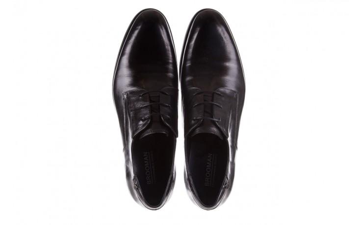 Półbuty brooman 53205a black, czarny, skóra naturalna  - mężczyzna 4