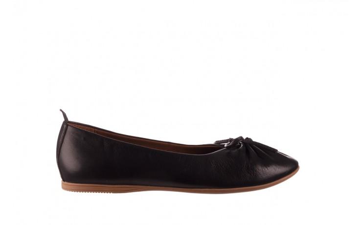 Baleriny bayla-190 757 336k-715 black, czarny, skóry naturalna  - baleriny - dla niej  - sale