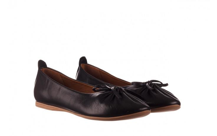 Baleriny bayla-190 757 336k-715 black, czarny, skóry naturalna  - baleriny - dla niej  - sale 1