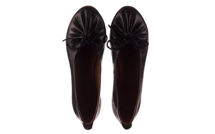 Baleriny bayla-190 757 336k-715 black, czarny, skóry naturalna  - baleriny - dla niej  - sale 4