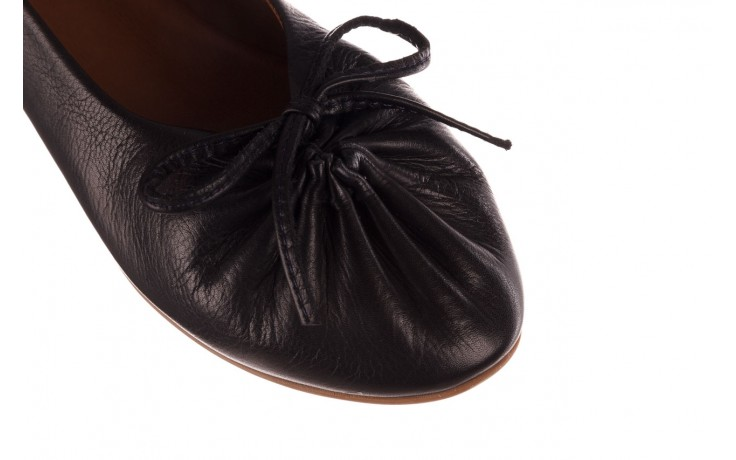 Baleriny bayla-190 757 336k-715 black, czarny, skóry naturalna  - baleriny - dla niej  - sale 5