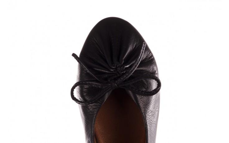Baleriny bayla-190 757 336k-715 black, czarny, skóry naturalna  - baleriny - dla niej  - sale 7