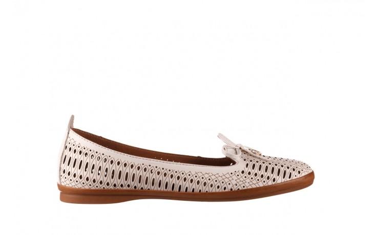 Baleriny bayla-190 262 632 34, biały, skóra naturalna  - ślubne - baleriny - buty damskie - kobieta