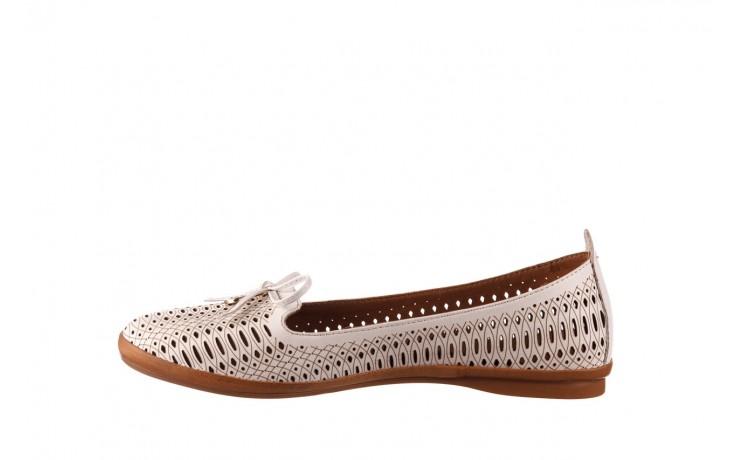 Baleriny bayla-190 262 632 34, biały, skóra naturalna  - ślubne - baleriny - buty damskie - kobieta 2
